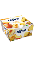 Alpro Surtido Melocotón y Piña-Fruta de la pasión x4