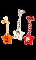 Juguete Navideño para Perro Estrellas con Cuerda