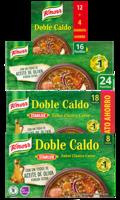 Knorr Pastilla doble caldo sabor clásico carne 8 / 16 / 18 / 24 pastillas